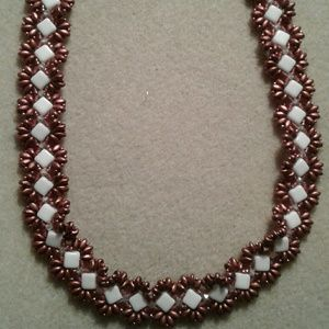 """""""Oh sweet copper of mine"""" beaded collar necklace"""